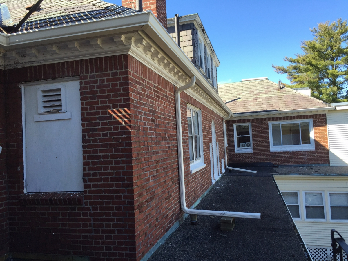 Commercial Gutters At Boston Baptist College Hyde Park