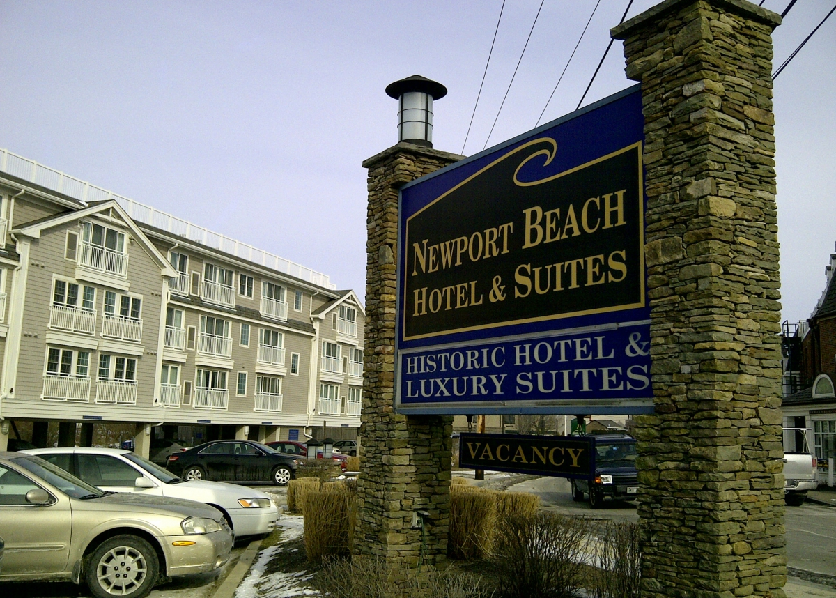 Commercial Gutters Installed On The Newport Beach Hotel And Suites Ri