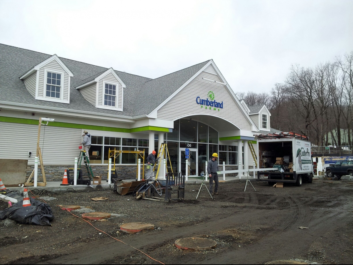 New Commercial Gutters By Gutter Pro On Cumberland Farms