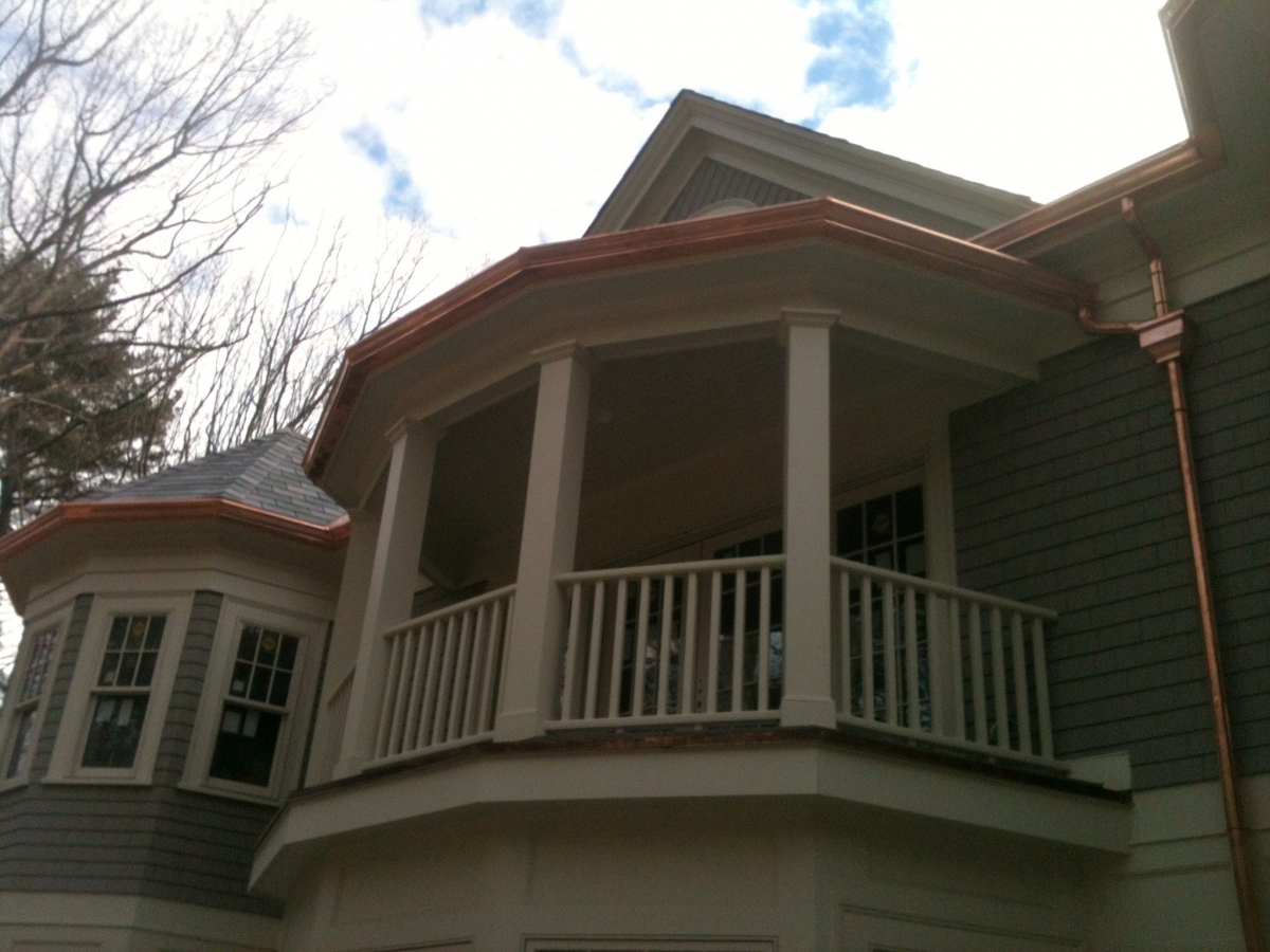 Seamless Copper Gutter Weston MA