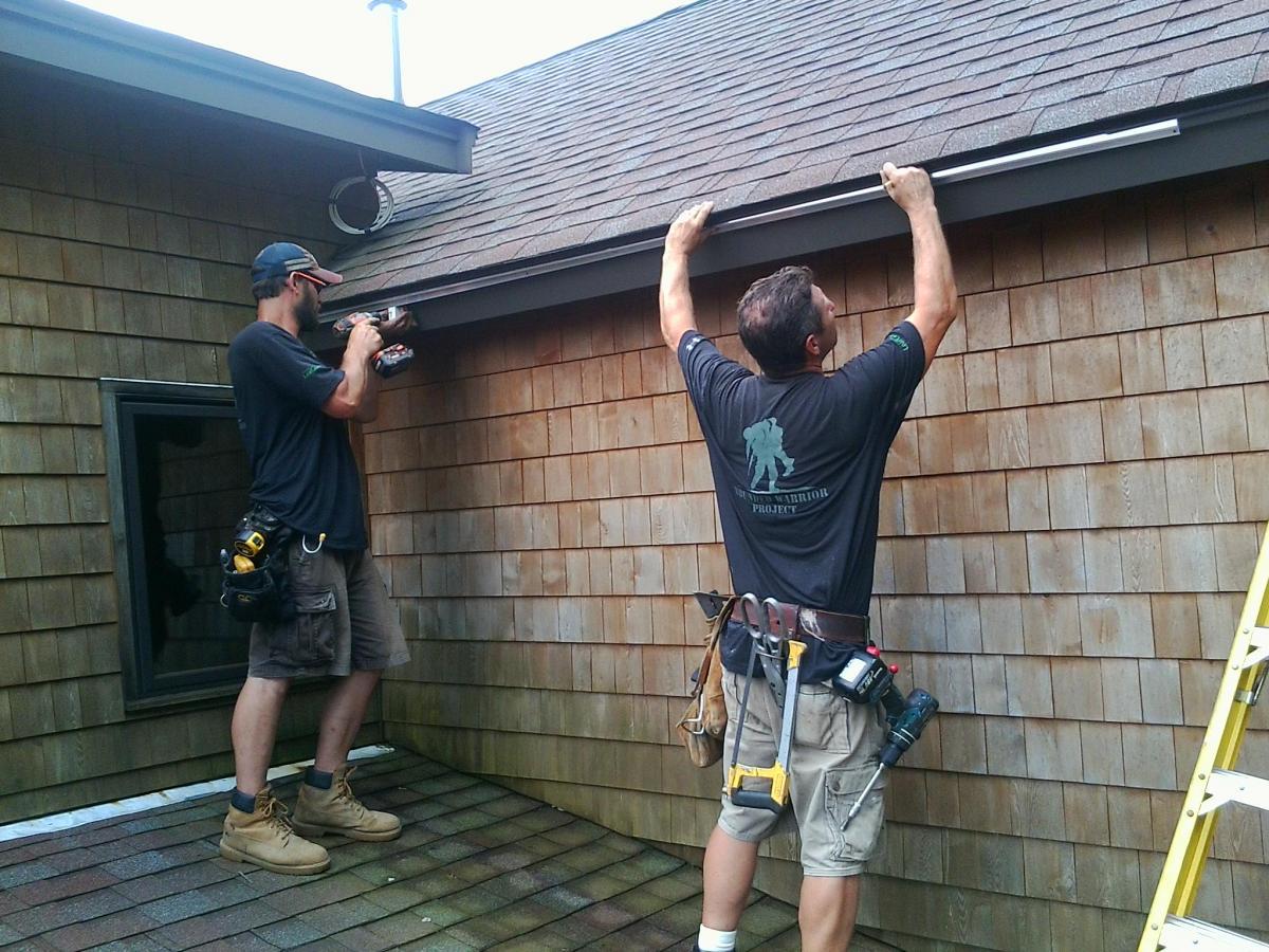 SnapLock Gutter Installation Crew