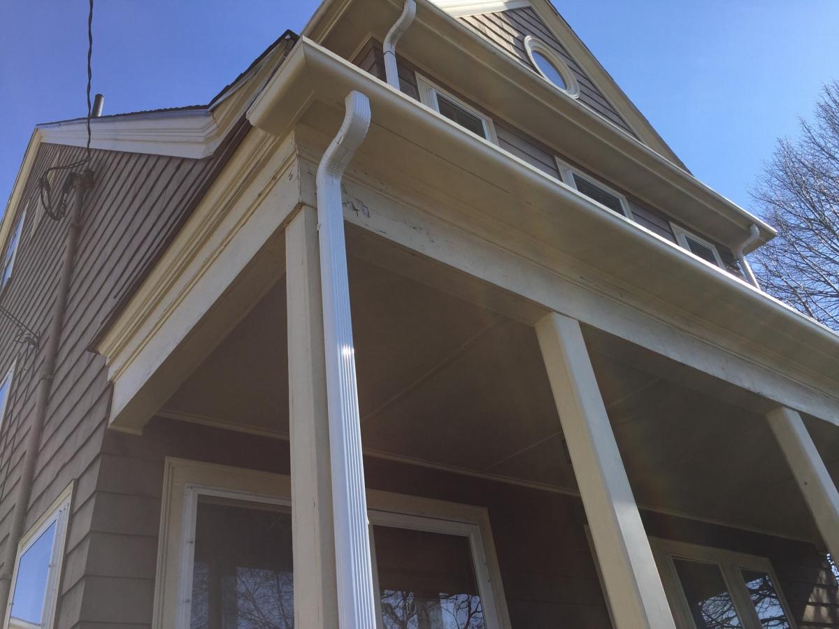 Wood Gutter Installation Watertown